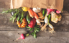 picture of fresh produce in a bag