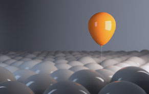 image of a yellow floating balloon