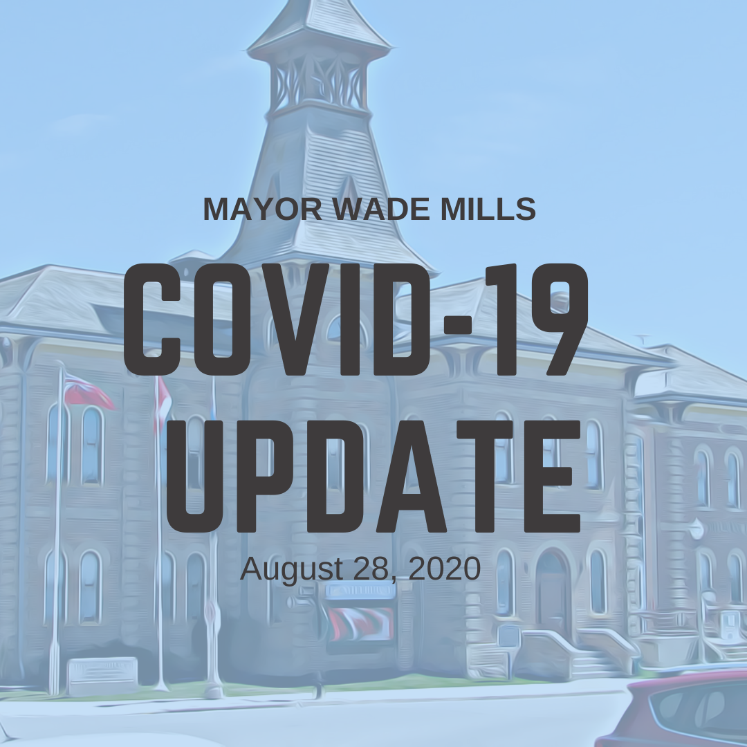 Mayor Covid 19 update August 28, 2020