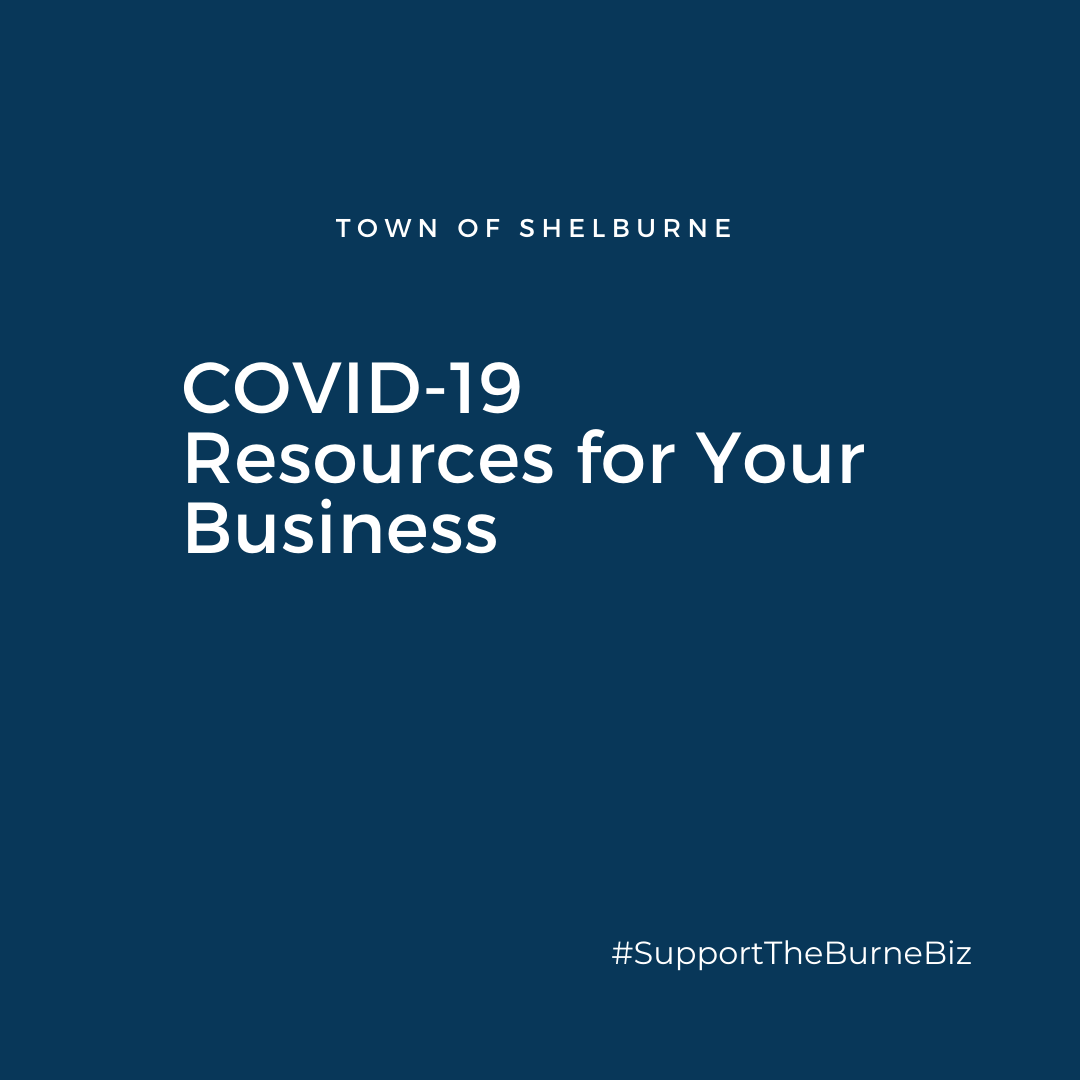 COVID-19 Resources for your Business on blue background