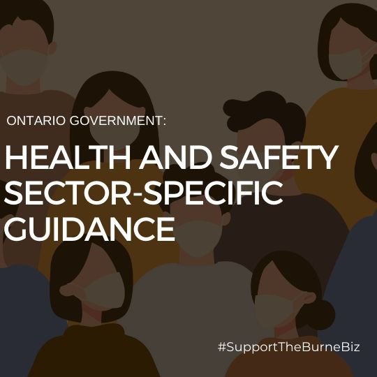 Ontario Government Health and Safety Sector-Specific Guidance